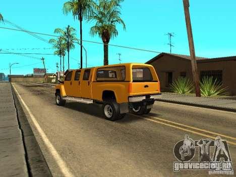 GMC TopKick для GTA San Andreas вид сзади слева