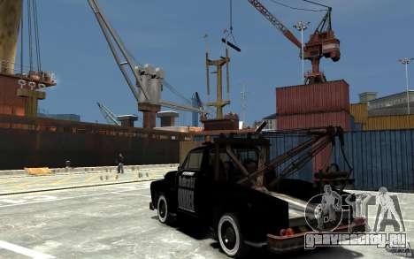 Black Towtruck для GTA 4 вид сзади слева