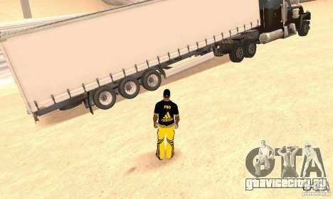 Krone Trailer для GTA San Andreas вид сзади слева