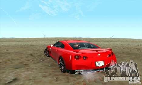 Nissan GT-R R-35 2012 для GTA San Andreas вид слева