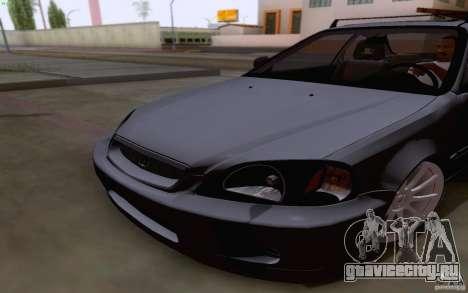Honda Civic 1999 для GTA San Andreas вид изнутри