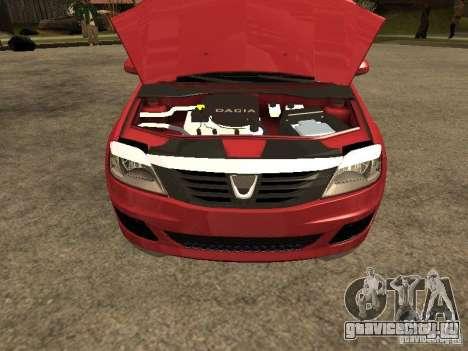 Dacia Logan Rally Dirt для GTA San Andreas вид справа