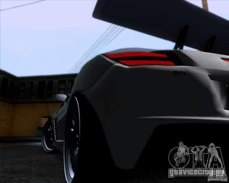 Saturn Sky Roadster для GTA San Andreas вид сзади