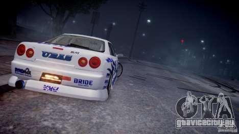 Nissan Skyline R-34 v1.0 для GTA 4 вид справа