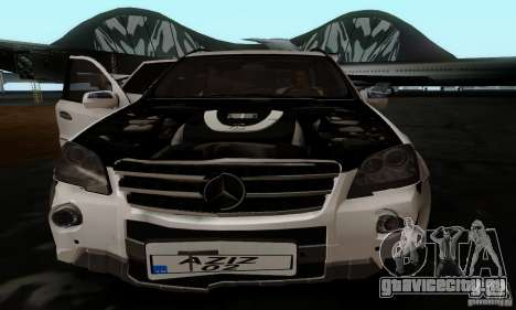 Mercedes Benz ML63 AMG для GTA San Andreas вид сзади