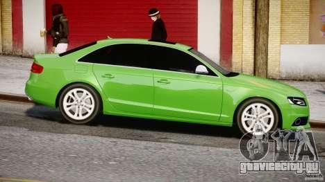 Audi S4 2010 v1.0 для GTA 4 вид изнутри