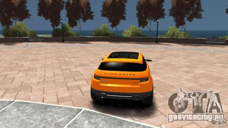 Range Rover LRX 2010 для GTA 4 вид сзади слева
