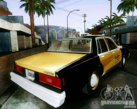 Chevrolet Impala 1986 Taxi Cab для GTA San Andreas вид слева