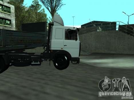 МАЗ 5432 для GTA San Andreas вид изнутри