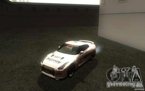 Nissan GTR R35 Spec-V 2010 для GTA San Andreas вид изнутри