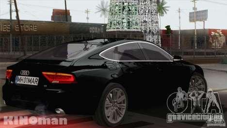 Audi A7 Sportback 2010 для GTA San Andreas вид слева