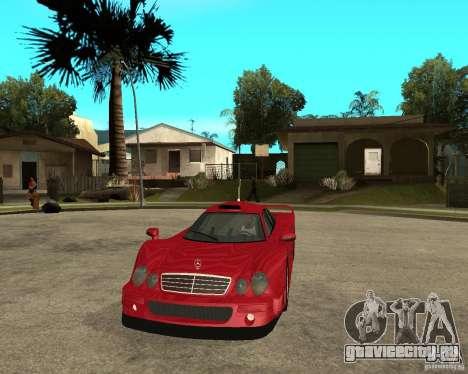 Mercedes-Benz CLK GTR road version для GTA San Andreas вид сзади