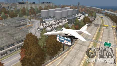 Liberty City Air Force Jet для GTA 4 вид справа