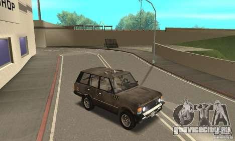 Range Rover County Classic 1990 для GTA San Andreas вид снизу