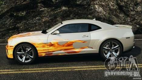 Chevrolet Camaro ZL1 2012 v1.0 Flames для GTA 4 вид слева
