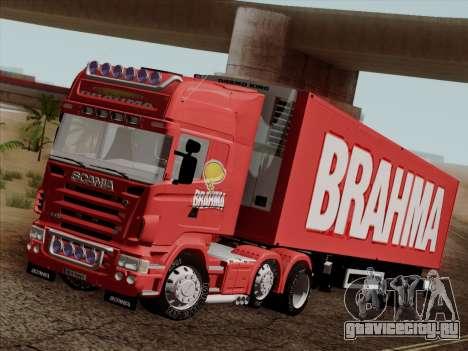 Scania R620 Brahma для GTA San Andreas вид снизу