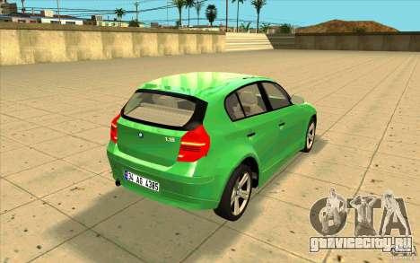 BMW 118i для GTA San Andreas вид сбоку