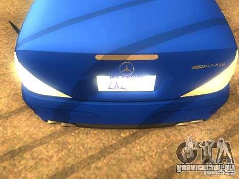 Mercedes-Benz SL65 AMG для GTA San Andreas вид сзади слева