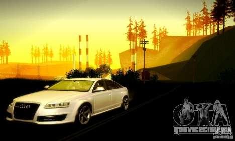 Audi RS6 TT для GTA San Andreas вид сзади
