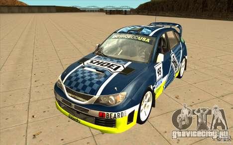 Новые винилы к Subaru Impreza WRX STi для GTA San Andreas вид сверху