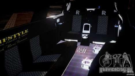 Rolls Royce Phantom Sapphire Limousine Disco для GTA 4 вид сбоку