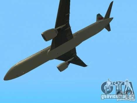 Boeing 787 Dreamliner Air Canada для GTA San Andreas вид изнутри