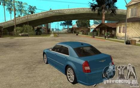 Chrysler 300C 6.1 SRT-8 2007 для GTA San Andreas вид сзади слева