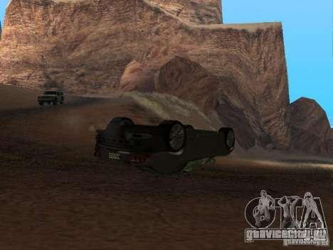 Перевернутые автомобили не горят для GTA San Andreas второй скриншот