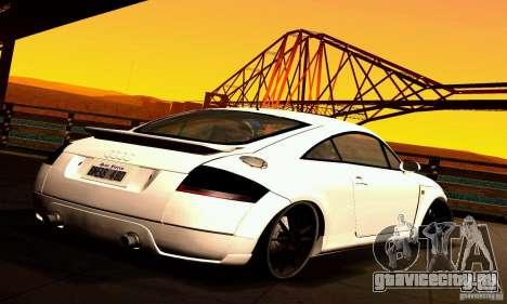 Audi TT Light Tuning для GTA San Andreas вид сзади слева