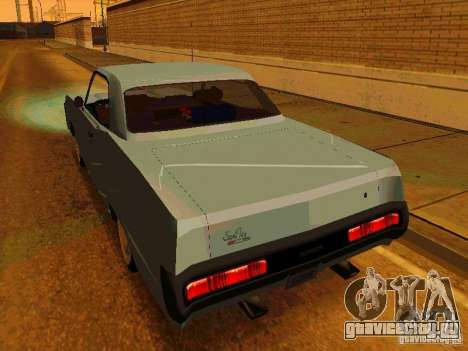 Plymouth Fury Sport 1970 для GTA San Andreas вид сзади слева