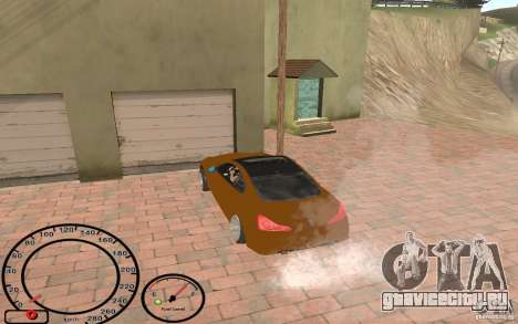 Infiniti G37 Vossen для GTA San Andreas вид сзади