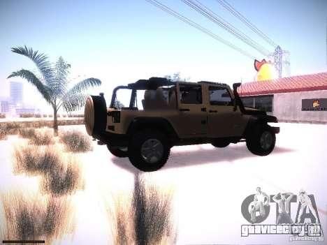 Jeep Wrangler Rubicon Unlimited 2012 для GTA San Andreas вид справа