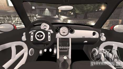 Mini Cooper S v1.3 для GTA 4 вид сзади