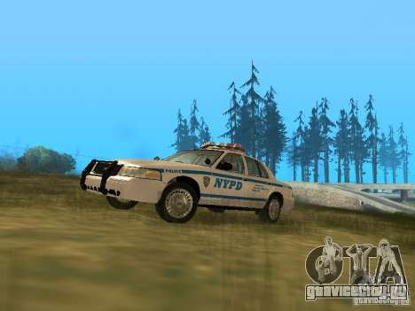 Ford Crown Victoria NYPD Police для GTA San Andreas