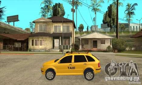Skoda Fabia Combi Taxi для GTA San Andreas вид слева