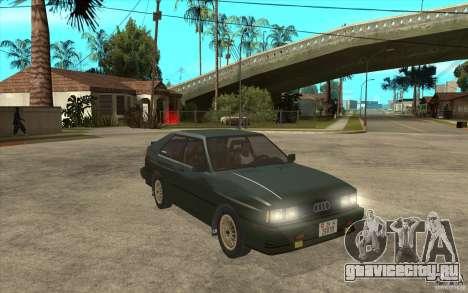 Audi Quattro для GTA San Andreas вид сзади