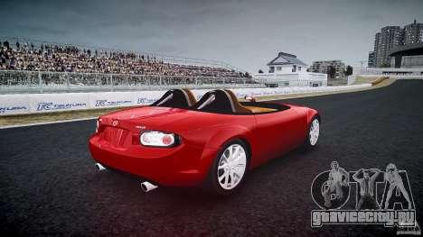 Mazda Miata MX5 Superlight 2009 для GTA 4 вид сбоку