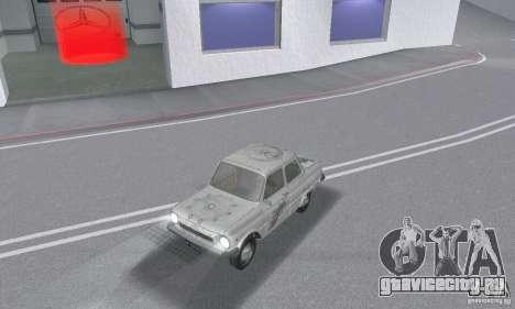 ЗАЗ 968м побитый для GTA San Andreas вид сверху
