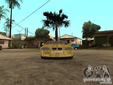BMW M3 Goldfinger для GTA San Andreas вид сзади слева
