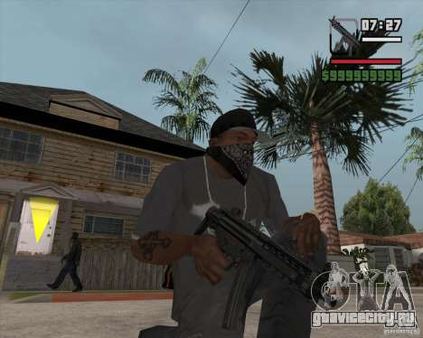 New MP5 (Submachine gun) для GTA San Andreas
