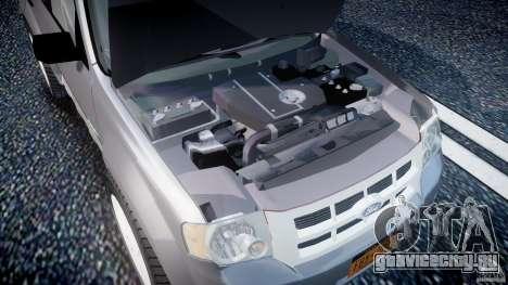 Ford Escape 2011 Hybrid Civilian Version v1.0 для GTA 4 вид сзади