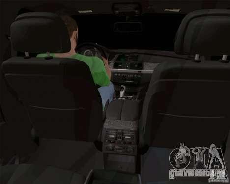 BMW X6 для GTA San Andreas вид изнутри
