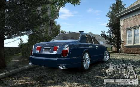 Bentley Arnage T для GTA 4 вид сзади