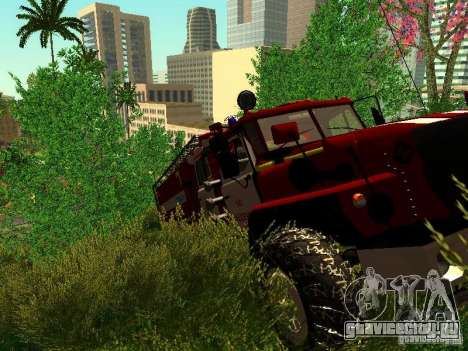 Урал 5557-40 пожарная для GTA San Andreas вид сбоку