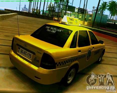 ВАЗ 2170 Priora Baki taksi для GTA San Andreas вид справа