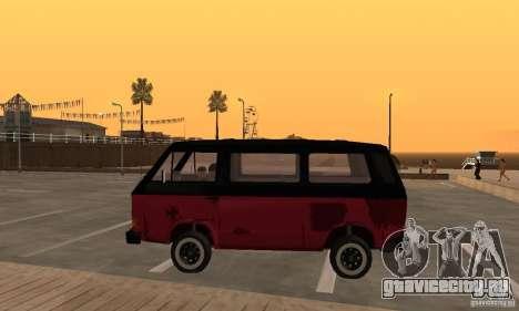 Volkswagen T3 Rusty для GTA San Andreas вид слева