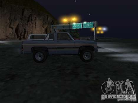 Rancher из GTA 4 для GTA San Andreas вид сзади