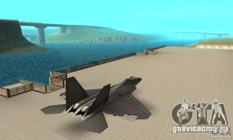F-22 Black для GTA San Andreas вид слева