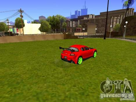 Mazda RX-8 R3 Tuned 2011 для GTA San Andreas вид слева