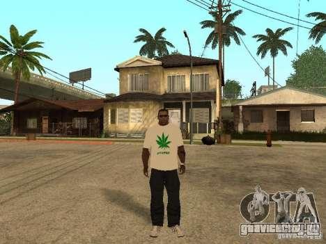 Футболка с Травой для GTA San Andreas